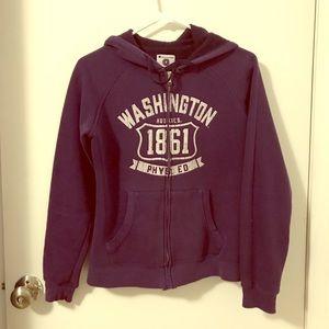 Purple UW zip up hoodie